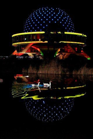 PLANETARIO at night in Buenos Aires...